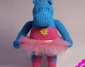 Ballerina Hippo Pattern