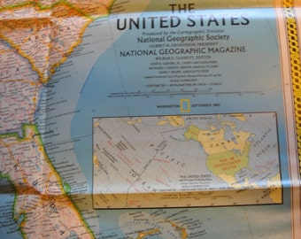 National Geographic Map: Americas Federal Lands Map 1982