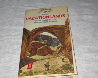 Vacationlands Of The United States And Canada Map 1966  National Geographic