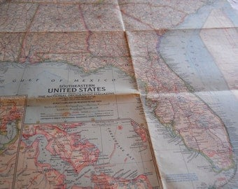 Southeastern United States  National Geographic Map January 1958