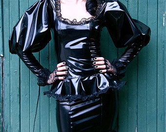 Long Sleeve PVC Tulip Top-Made to Measure