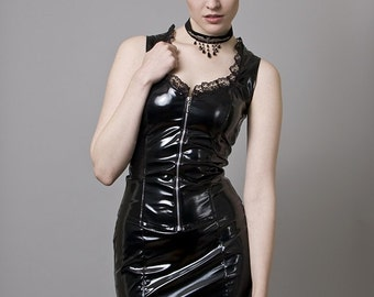 Black PVC Bustier-Made to Order