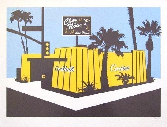 Chez Nous Cocktails photo print