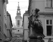 Vienna Fountain - Black and White - 5x7 photograph