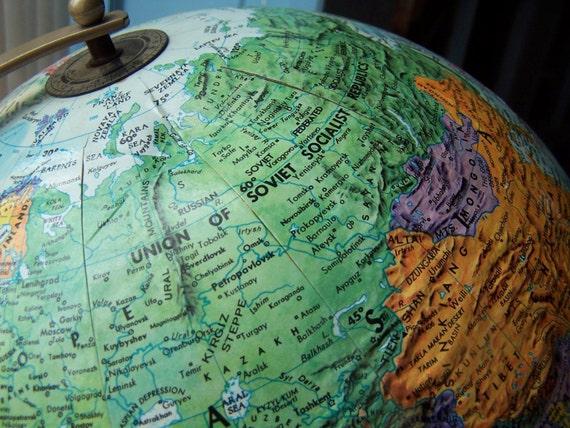SALE-Vintage Globe