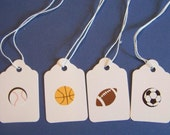 Sports Themed Mini Gift Tags