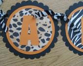 Custom banner leopard and zebra ANIMAL PRINT