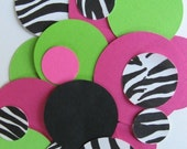 Large TABLE CONFETTI  100 pack zebra hot pink lime green or choose your own colors
