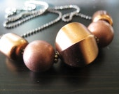 Copper necklace Statement necklace Fall Fashion by Vitrine Under 45