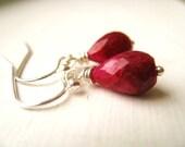 Ruby earrings Holiday Gift for her Under 50 Vitrine July Birthday Birthstone