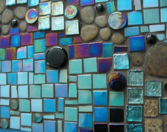 Mosaic panel or medallion for kitchens, baths, spas. Made to order - priced per square foot