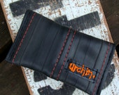 Eco friendly vegan card holder made from a used bike inner tube