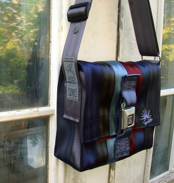 Eco friendly bag made from repurposed seat belts