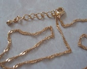 Gold Plated Singapore Chain Necklace FRG046