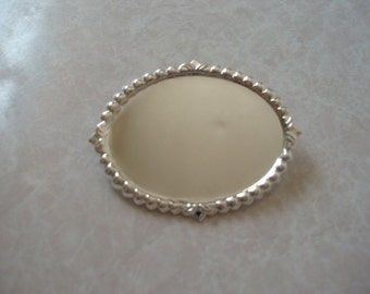 Horizontal BroochSetting Silver Plated 40x30mm SET005