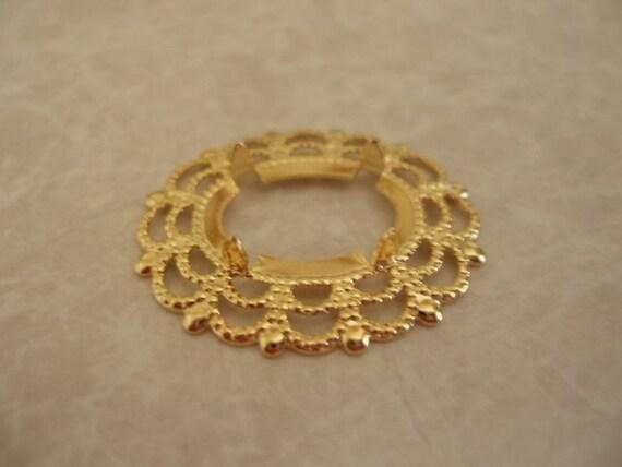 4 pcs. 30X25mm Gold Plated Brass Cab Setting SET049