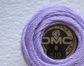 DMC Perle Cotton Thread 210 Size 8 Medium Lavender