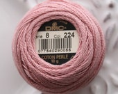 DMC 224 - Very Light Shell Pink - Perle Cotton Thread Size 8