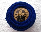 DMC 820 -Perle Cotton Thread Size 8 Very Dark Royal Blue