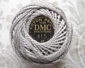 DMC Pearl Cotton Balls Size 5 - 415 Pearl Gray