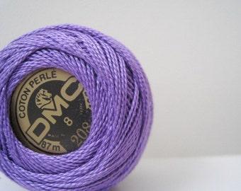 DMC Perle Cotton Thread 208 Size 8 Very Dark Lavender