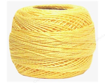DMC 745 - LT Pale Yellow - Light Pale Yellow - Perle Cotton Thread Size 8