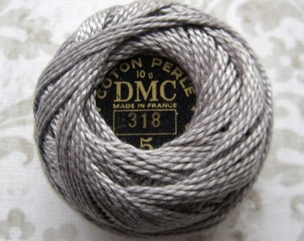 DMC Pearl / Perle Cotton Balls Size 5 - 318 Light Steel Gray