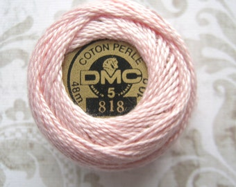 Last One - DMC 818 - Baby Pink - Perle Cotton Ball Thread Size 5