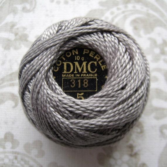 DMC Pearl / Perle Cotton Balls Size 5 - 318 Light Steel Gray