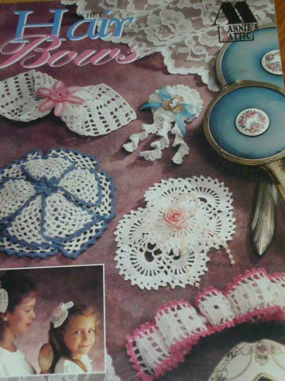 Annies Attic Crochet Patterns : Crochet Hair Bows Annies Attic Pattern Book-10 different patterns