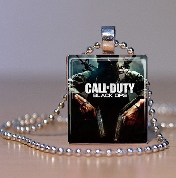 Call of Duty Black Ops glass pendant