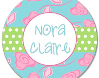 Personalized Melamine Plate, Birthday Plate, Girl Plate, Baby Plate, Tea Party Plate, custom monogram, Melamine Plate, Monogrammed Plate