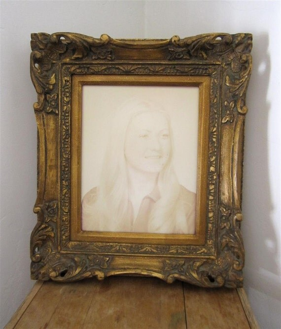 RESERVED Antique Ornate Wood Picture Frame for 8x10 Photo