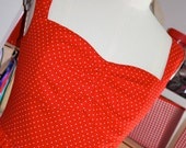 50s style Red dress with polka dots