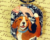 You're My Best Friend of Unconditional Love PENDANT original BEAGLE