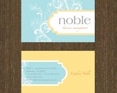 Custom professional LOGO design and 300 personalized BUSINESS CARDS