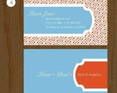 300 BUSINESS CARDS - Personalized CALLING CARDS - 4 designs to choose from - pattern series