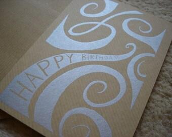 Gocco printed birthday card