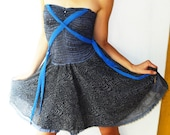 Honey dress- DESIGNER DRESS in blue