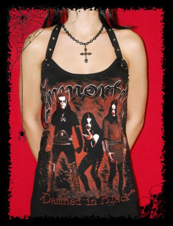 Immortal Hordes Evil Black Metal Norway Halter Eyelet Shirt Mini Dress S M L XL