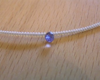 Baby's Teardrops - Iolite, Seed Pearl, Freshwater Pearl, 14K GF Necklace
