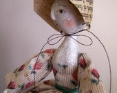 c1850 OoAk Pin Cushion Doll,  Becca
