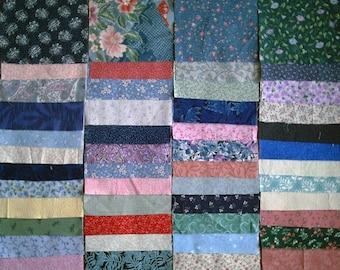 """50 charm squares 5"""" all different quilt prints florals cotton calicos"""