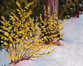 Spring Snow original oil painting