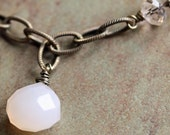 Frosty Hint of Peach Necklace