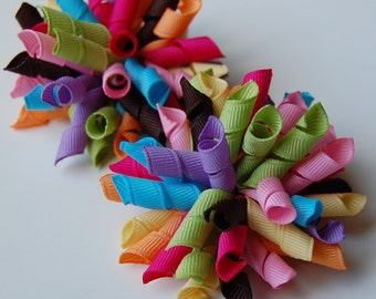 Riot of Colors Mini Korkers Set of 2 Hair Bows