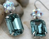 Indian Sapphire and Opal Crystal Earrings