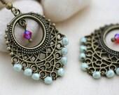 Mint Bronze Dart Earrings
