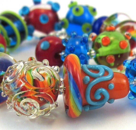 Funny Girl Lampwork Bead Set