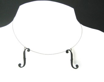 Violin necklace (double), Adjustable (viola, cello, bass)